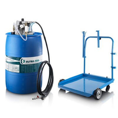 208 litre drum with automatic pump and trolley